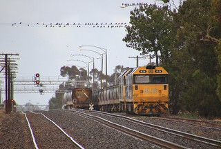 BL26 and BL27 are shutdown in the sidings at Dimboola yard