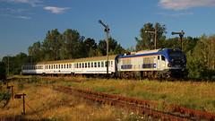 SU160-010 (Krzysztof D.) Tags: pociąg train zug kolej bahn railway polska poland polen lipa station stacja bahnhof semafor gama su160 pesa tlk pkp intercity
