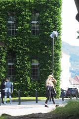 Sydneshaugen (davidbrothers) Tags: street green girl sun sunlight om omsystem 50mm 18 vintage soft softfocus bergen norge norway