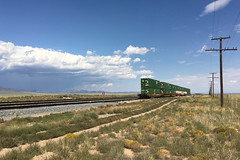 Lonely Double Stack cars at Heist Utah with Thunderstorm looming (swissuki) Tags: doublestack heist unionpacific up ut utah