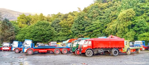 Colourful old lorries.