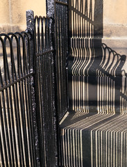 Pinstripes (No9 (Tony)) Tags: shadows pinstripes stripes belsay hall fence steps