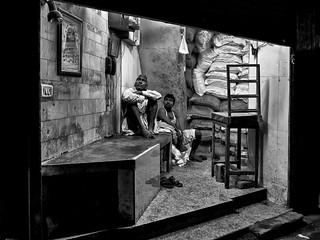 Old Delhi - TV après une journée de travail.