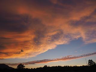 © Sunset Clouds Sky Village Church Silhouette Bavaria Germany Europe – Sonnenuntergang Wolken Kirche Dorfkirche Sommer Bayern Oberbayern