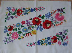 Hungarian embroidered pillowcase 1 (Steven Czitronyi) Tags: pillowcase embroidery hungarian