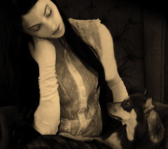 A Timeless Love (coollessons2004) Tags: krystalsmith woman vintage dog puppy
