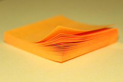 261/365 Sticky Notes (Helen Orozco) Tags: paper minimal postit curlededges 2017365 orange color colour stickynote sooc canonrebelsl1 corner pad stickies 9393
