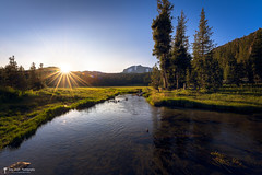 Sunset at Kings Creek in California's Lassen Volcanic National Park (jthight) Tags: sunshine rock usa landscape sunset northamerica nationalpark lassenvolcanicnationalparklassen landform kingscreek volcano rocks northerncalifornia california f20 beautiful lightroom water mountains nikond810 sky naturallight unitedstates 180sec iso64 afzoom1424mmf28g chester ca