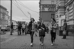 DR150904_1168D (dmitryzhkov) Tags: art city europe russia moscow documentary photojournalism street urban candid life streetlife outdoor streetphotography streetphoto moment light shadow dmitryryzhkov people portrait streetportrait face man sony person stranger black blackandwhite bw monochrome white bnw blacknwhite bnwstreet converse conversation friend group three walk walker motion movement pretty prettywoman woman women young youngwoman student