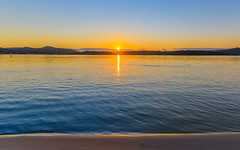 Sunrise Waterscape on the Bay (Merrillie) Tags: view woywoy color nature australia sunburst sun weather newsouthwales light brisbanewater nsw scene water scenery coastal dawn coast scenic daybreak sky waterscape sunrise centralcoast landscape bay