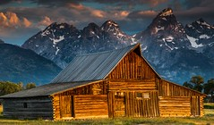 Most Photographed Barn Anywhere, Mormon Row (sapere18) Tags: 2017 grandteton july mormonrow wyoming summer sunrise