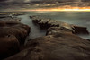 Sunset in La Jolla (Amazing Aperture Photography) Tags: lajolla california tide tidepools rockformations pacific pacificocean beautiful sun clouds seascape landscape sandiego nikon nikond800