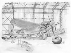De Havilland Mosquito at the Yorkshire Air Museum