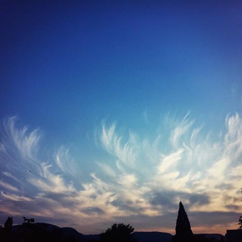 Clouds like angel wings