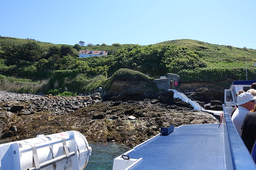 Approaching Rosaire Landing on Herm