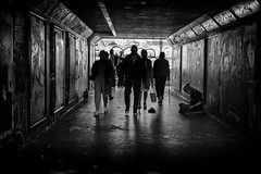 subway aliens (Daz Smith) Tags: dazsmith fujixt20 fuji xt20 andwhite bath city streetphotography people candid portrait citylife thecity urban streets uk monochrome blancoynegro blackandwhite mono shinyeyes eyes aliens silhouette subway