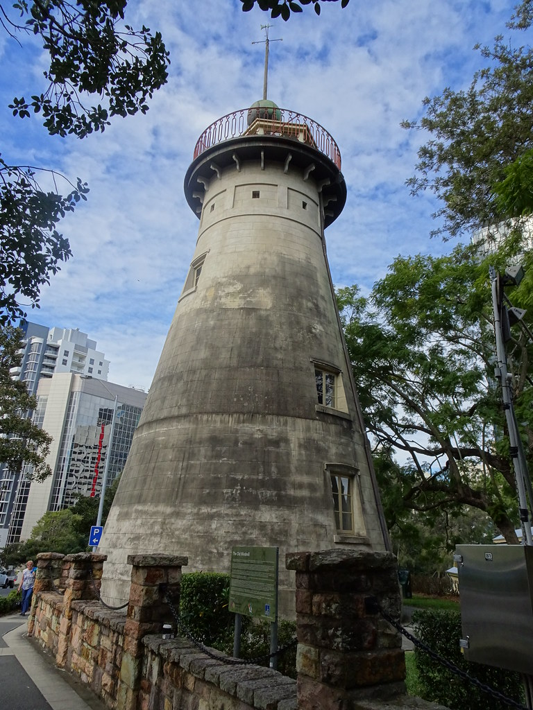 Brisbane. The old 1828 windmill. Oldest windmill in Australia and one of the few convict built structures left in Brisbane.