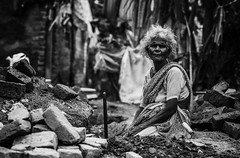 Age did not have to prohibit or inhibit a woman's ability to make money or a living (Well-Bred Kannan (WBK Photography)) Tags: village wbk blackandwhite india incredibleindia hardlife workingwomen