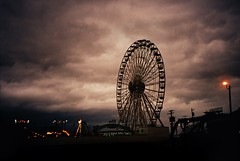 DR3-018-7A (David Swift Photography Thanks for 22 million view) Tags: davidswiftphotography newjersey oceancitynj wonderlandpier amusements amusementparks ferriswheel storms stormclouds 35mm capemaycounty film olympusstylusepic kodakportra