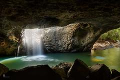 Natural Bridge - inside cave (pbaddz) Tags: springbrooknationalpark cave australia waterfall rainforest naturalbridge water glowworm rocks queensland