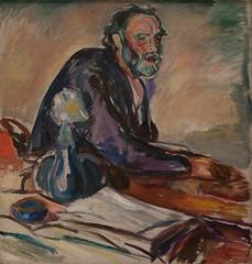 Edvard Munch, Man with Bronchitis, 1920 (Sharon Mollerus) Tags: edvardmunchbetweentheclockandthebedexhibit sfmoma sanfranciscomuseumofmodernart sanfrancisco california unitedstates us cfptig17