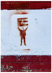 Emolument Man (swanksalot) Tags: emolument streetart graffiti brick wall chicago wickerpark tweeted stencil trump emolumentsclause articleioftheconstitution