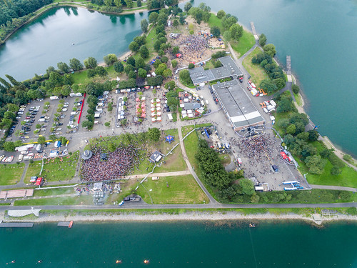 Aerial of Springinsfeld Music Festival 2017 in Fühlingen