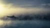 Row boat - DSC7455-16 2k (cleansurf2) Tags: fog water waterscape 16x9 2k wallpaper widescreen wide background blue white soft boat reflection sunset sunrise surreal sun morning lake ilce7m2 landscape tones emount sony screensaver australia dream mood glow light mirrorless minimual minimalism backdrop vivid bright colour color coast cool