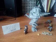 """Lego W. I. P """"Schwer Gepanzerter Tank überbrücken"""" or SchGep Tankübe (A.V.V.) Tags: lego aww ww1 wip"""