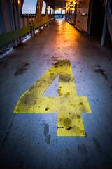 Four (Nicholas Erwin) Tags: four number letter type yellow industrial grunge ferry boat boatdeck contrast dark lakechamplain nikon d610 2018g evening bluehour plattsburgh newyork ny unitedstatesofamerica usa depthoffield dof fav10 fav25