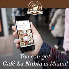 You have us in the palm of your hand. Contact us, and we will give you the addresses where you can buy our coffee. (cafelanubia) Tags: cafelanubia miami florida coffee coffeecup colombiancoffee coffeemug socialnetworks perfect contact share goodtimes