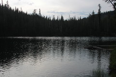 Echo Lake, in the late afternoon (rozoneill) Tags: lassen volcanic national park wilderness redding chico california hiking pacific crest trail backpacking cascades volcano peak