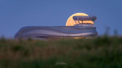 Moonrise, Edmonton International Airport