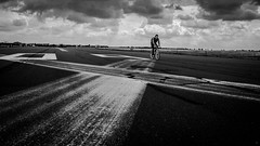L1200614 (Bruno Meyer Photography) Tags: berlin visitberlin berlintheplacetobe tempelhof tempelhoffeld airport tarmack track bike ride alone signs history coldwar evolution skyline clouds light fast fastasyoucan travel travelphotography photography leica leicaimages leicacamera leicadlux5 leicaworld raw edit lightroom blackandwhite bw blackandwhitephotography bwphotography archives 2016 iloveberlin