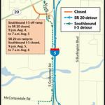 I-5 and SR 20 detour map thumbnail