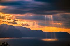 God's light (Vagelis Pikoulas) Tags: sun sunset rays sea seascape landscape canon 6d tamron 70200mm vc sky clouds cloudy colours view psatha greece europe