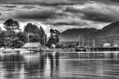 Sointula Harbour (Chatham Sound) Tags: canada britishcolumbia malcolmisland georgiastraight sointula nikond810 monochrome pacificnorthwest