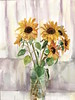 sunflowers (kumi matsukawa) Tags: watercolor floweres