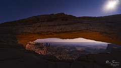 Mesa Arch by Moonlight (JusDaFax) Tags: mesa arch canyonlands moon moonlight night stars glow light canyon cliff longexposure nationalpark utah davesoldanoimages west western usa
