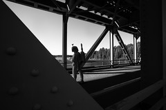 boba on the bridge (jooka5000) Tags: bridge outdoor bw standing bountyhunter road summer light sun actionfigure bobafett starwars photography july 2017