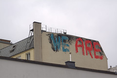 We Are (C.C.V.) Tags: we are graffiti vienna wien austria österreich wall wand rooftop street strasse crew