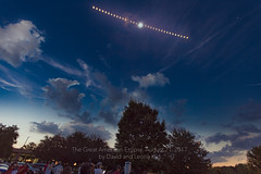 Time-Lapse Photo of the August 21, 2017, Solar Eclipse (David Illig) Tags: timelapse canon5dmarkiv eclipse2017 astrophotography multipleexposures