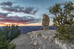 Monolith Sunset (Kirk Lougheed) Tags: arizona coloradoplateau grandcanyon grandcanyonnationalpark shoshonepoint southrim usa unitedstates canyon landscape monolith nationalpark outdoor park rim summer sunset