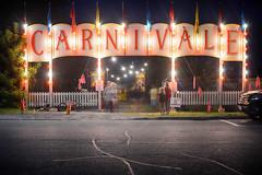 Carnivàle (flashfix) Tags: august112017 2017inphotos brockville ontario canada nikond7100 nikon 28mm carnivàle carnivàlelunebleue night sign lights people longexposure nightphotography carnival fair ndfilter