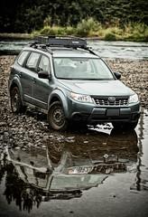 2012 Subaru Forester 2.5x (donaldgruener) Tags: subaruforester subaru forester sh 2012 25x offroad oregon water riverbank reflection