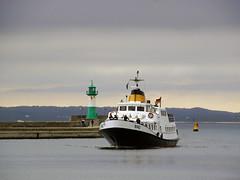 MS Binz (ingrid eulenfan) Tags: rügen insel sassnitz ostsee reedereiadlerschiffe msbinz schiff mole leuchtturm hafen