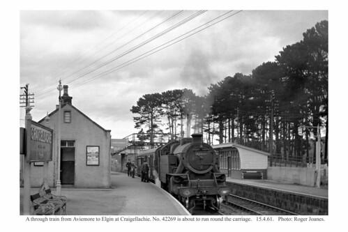 Craigellachie. 42269 & train from Aviemore to Elgin. 15.4.61