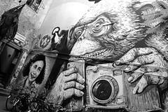 Anne Frank / Gorilla / Berlijn (rob4xs) Tags: berlijn berlin zw bw monochrome hausschwarzenberg annefrank gorilla camera kamera fototoestel duitsland deutschland germany vakantie urlaub holiday vacation favorite hoofdstad hauptstadt capital