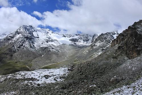 Rochers des Boucs, glacier des Ecoulaies