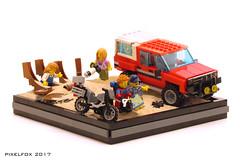 Toyota Hilux 4th Gen (N50) (Pixel Fox) Tags: lego offroader 4x4 hilux toyota diorama vignette